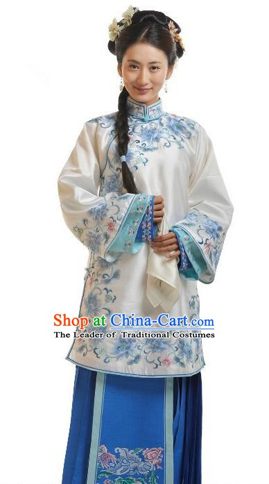 Chinese Qing Dynasty Princess Consort Historical Costume Ancient Palace Lady Clothing for Women
