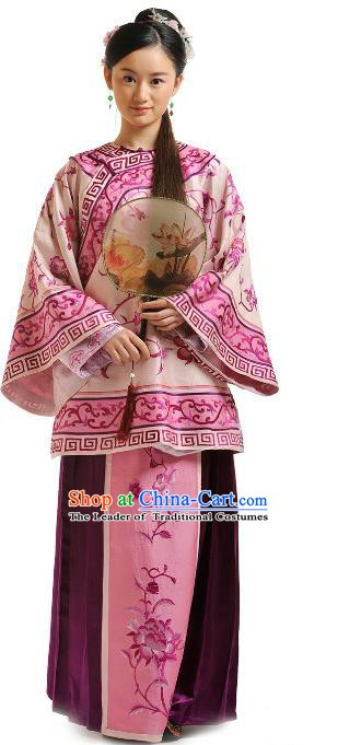 Chinese Qing Dynasty Manchu Lady Historical Costume Ancient Nobility Lady Clothing for Women