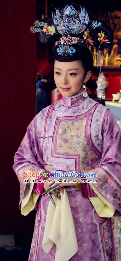 Chinese Qing Dynasty Queen Historical Costume Ancient Empress Clothing for Women
