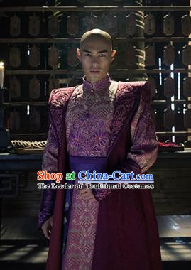 Chinese Qing Dynasty Prince Yinreng Replica Costumes Ancient Manchu Historical Costume for Men