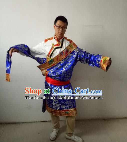 Traditional Zang Nationality Dance Clothing Tibetan Minority Costumes