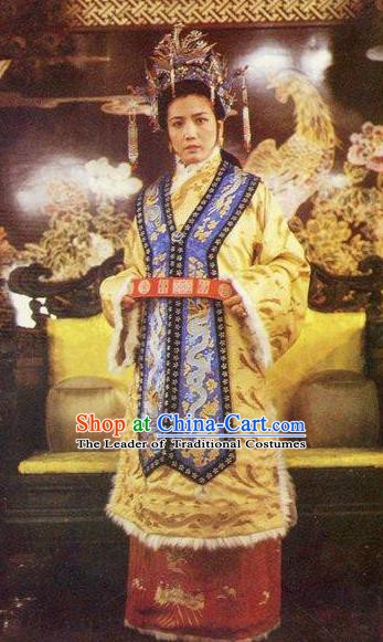 Chinese Ancient Qing Dynasty A Dream in Red Mansions Imperial Concubine Yuanchun Dress Replica Costumes for Women