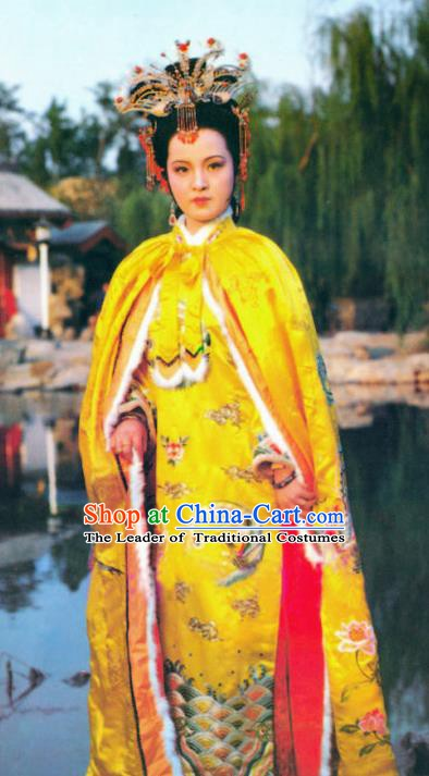 Chinese Ancient A Dream in Red Mansions Imperial Concubine Yuanchun Dress Replica Costumes for Women