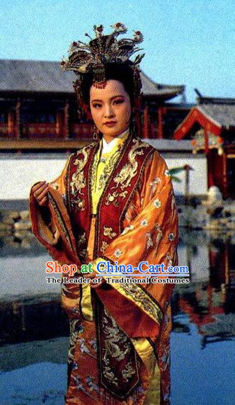 Chinese A Dream in Red Mansions Ancient Imperial Concubine Yuanchun Dress Replica Costumes for Women
