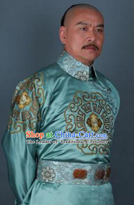 Chinese Qing Dynasty Manchu Prince Regent Chun Zhaifeng Replica Costumes for Men