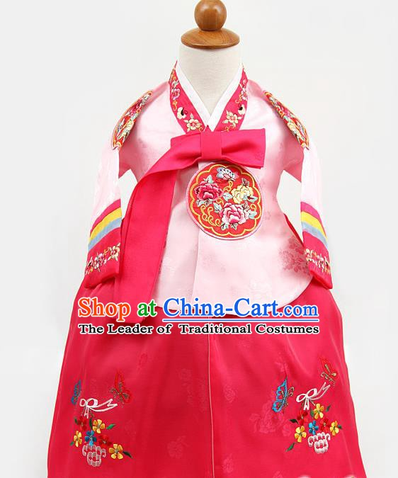 Korean Traditional Pink Hanbok Clothing Korean Children Fashion Apparel Hanbok Costumes for Kids