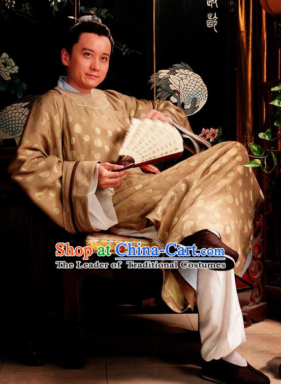 Chinese Ancient Novel Dream of the Red Chamber Aristocratic Childe Jia Lian Costume for Men