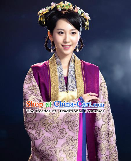 Chinese Ancient Palace Lady Costume Ming Dynasty Princess Consort Ning Embroidered Dress for Women