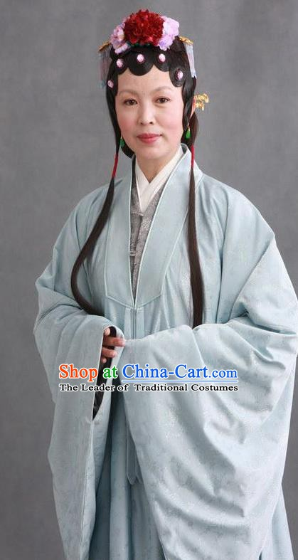 Chinese Ancient Novel Character A Dream in Red Mansions Concubine Zhao Costume for Women