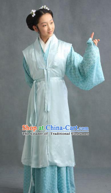 Chinese Ancient Novel Character A Dream in Red Mansions Maidservants Xueyan Costume for Women