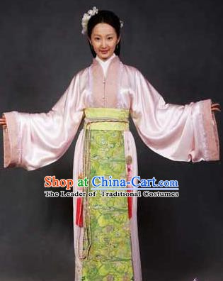 Chinese Ancient Novel Character A Dream in Red Mansions Maidservants Pinger Costume for Women