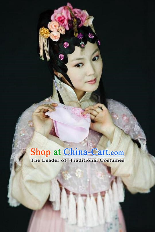 Chinese Ancient A Dream in Red Mansions Character Nobility Lady Jia Yingchun Costume for Women