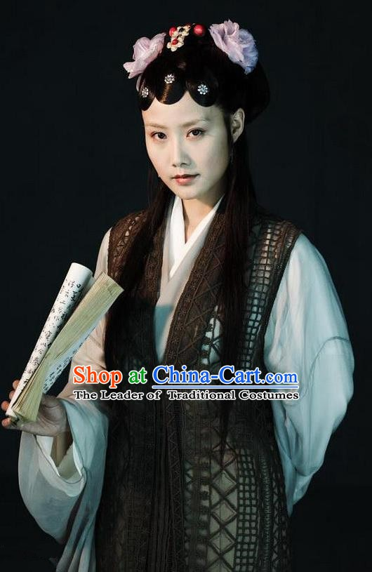 Chinese Ancient A Dream in Red Mansions Character Nobility Lady Jia Tanchun Costume for Women