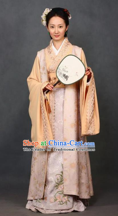 Chinese Ancient A Dream in Red Mansions Character Maidservants PingEr Costume for Women