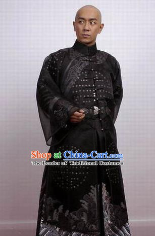 Chinese Ancient Qing Dynasty Gwanbok Robe Nobility Childe Poet Nalan Rongruo Costume for Men
