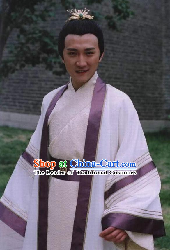 Chinese Ancient Emperor Costume Ming Dynasty Zhengde Emperor Zhu Houzhao Clothing for Men