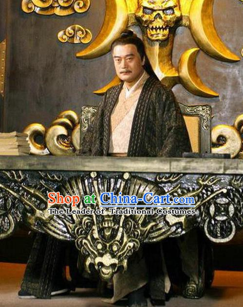 Chinese Ancient Ming Dynasty Pirate Wang Zhi Costume for Men