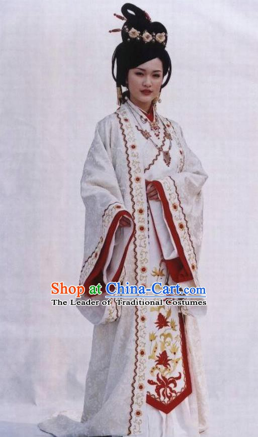Chinese Ancient Queen Costume Ming Dynasty Empress Zhang Embroidered Dress for Women