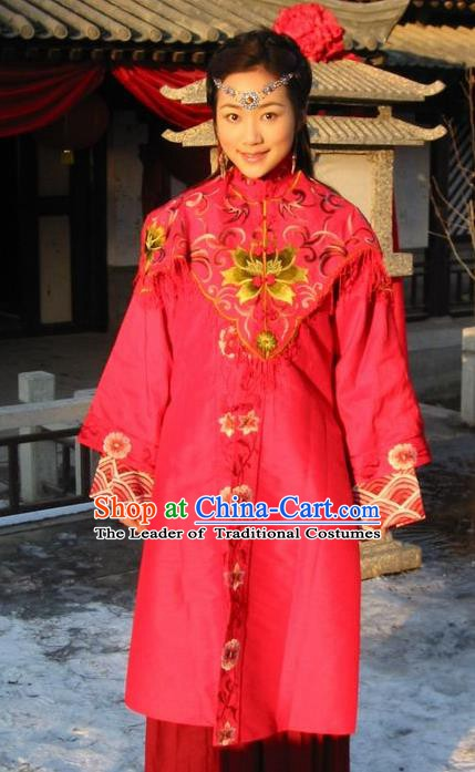 Ancient Chinese Ming Dynasty Princess Replica Costume Palace Lady Wedding Clothing for Women