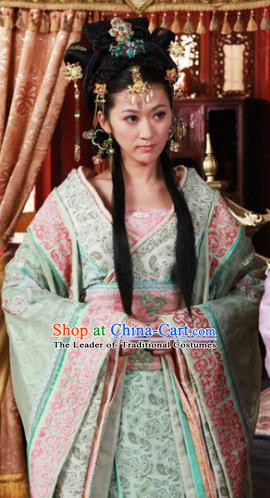 Ancient Chinese Ming Dynasty Imperial Consort Yu Historical Costume Embroidered Replica Costume for Women