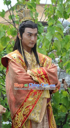 Traditional Chinese Ancient Ming Dynasty Emperor Xi Zhu Youxiao Replica Costume for Men