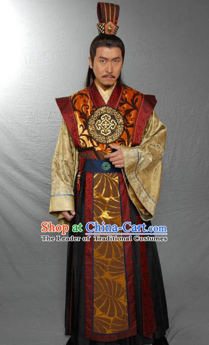 Traditional Chinese Ancient Ming Dynasty Prince Yan Zhu Di Replica Costume for Men