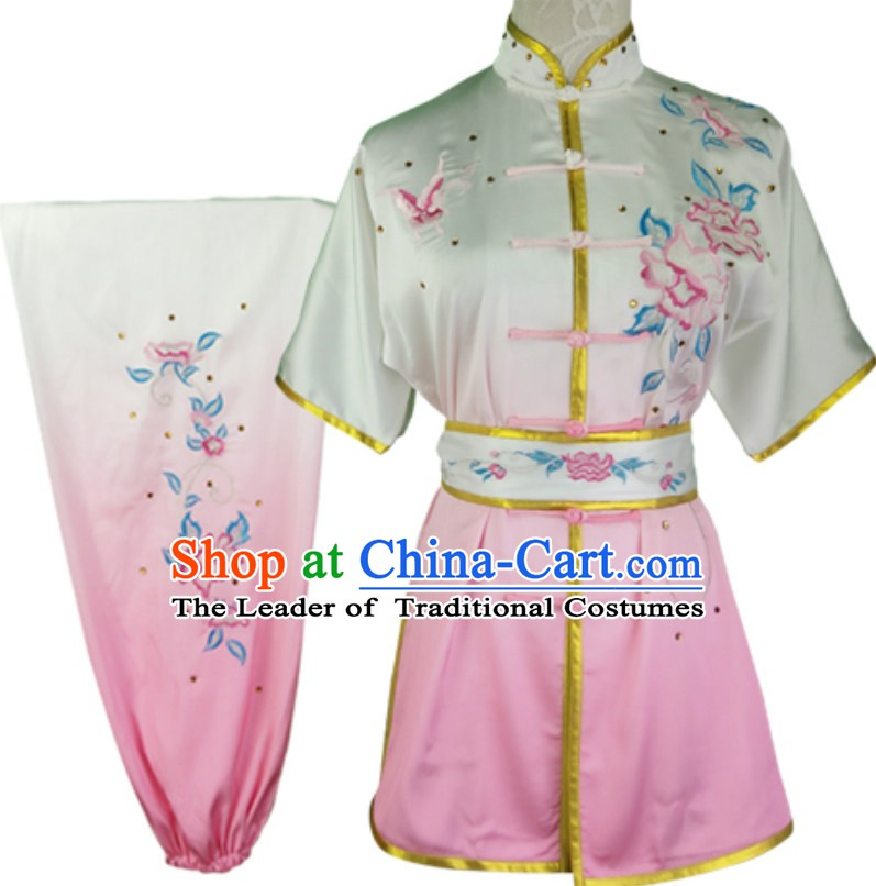 Top Changquan Nanquan Long Fist Southern Fist Phoenix Embroidery Best and the Most Professional Kung Fu Martial Arts Clothing Competition Uniforms for Children Kids Teenagers