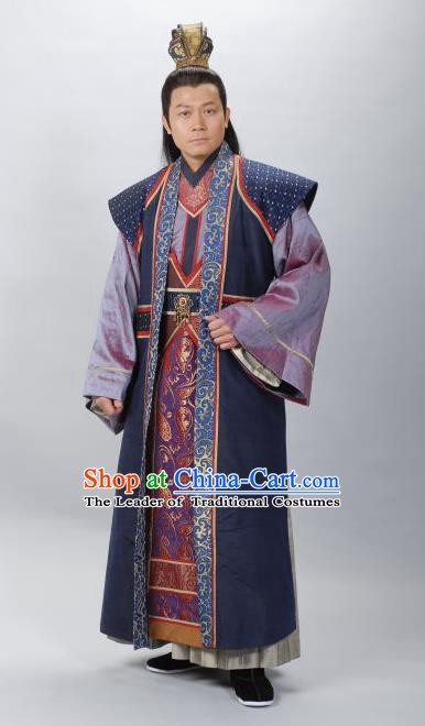 Traditional Chinese Ming Dynasty Ancient Prince Ning Costume for Men