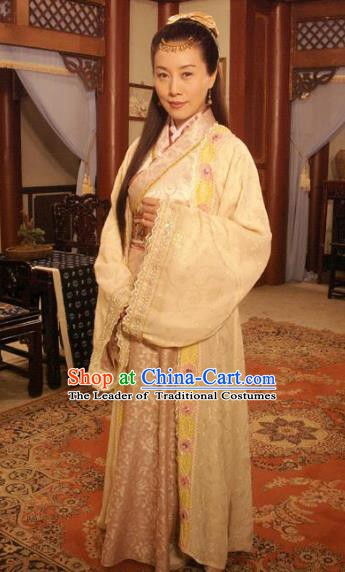 Chinese Ancient Ming Dynasty Imperial Concubine Embroidered Dress Costume for Women