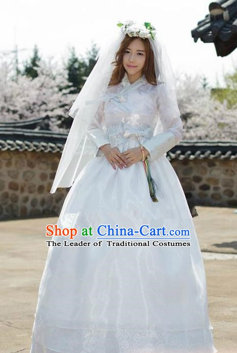 Top Grade Korean Traditional Palace Hanbok Ancient Wedding Blouse and Dress Fashion Apparel Costumes for Women