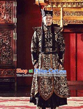Traditional Chinese Ancient Ming Dynasty Court Eunuch Wei Zhongxian Costume for Men