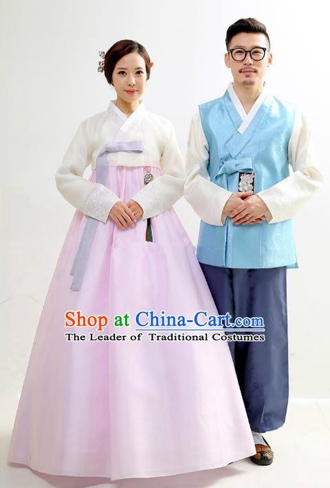 Korean Traditional Costumes Ancient Korean Hanbok Bride and Bridegroom Costumes Complete Set