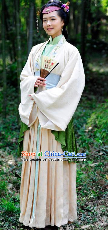 Chinese Ancient Ming Dynasty Courtesan Liu Rushi Historical Costume for Women