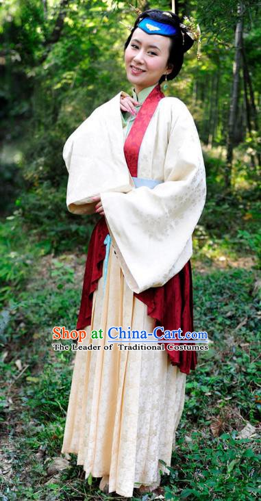 Chinese Ancient Ming Dynasty Courtesan Kou Baimen Historical Costume for Women