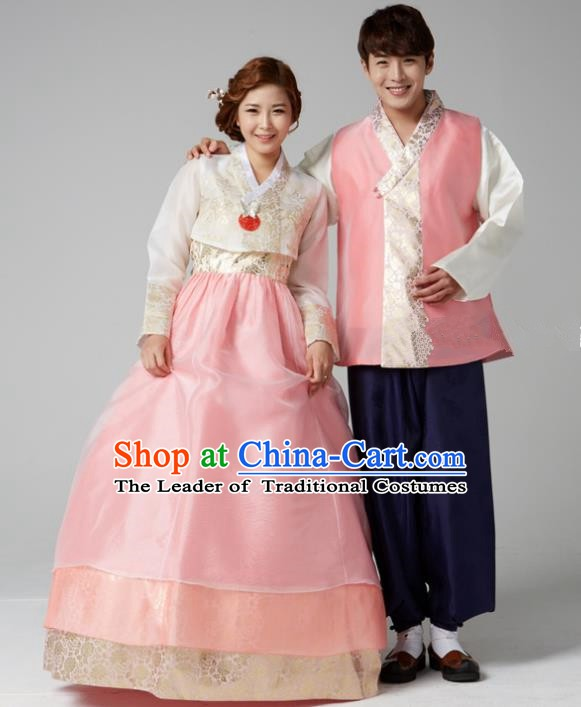 Korean Traditional Costumes Ancient Korean Wedding Hanbok Bride and Bridegroom Costumes Complete Set