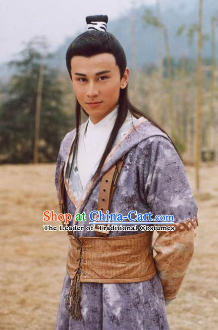 Chinese Ancient Song Dynasty Young General Yang Qilang Replica Costume for Men