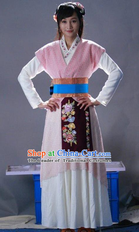 Ancient Chinese Ming Dynasty Young Lady Swordswoman Replica Costume for Women
