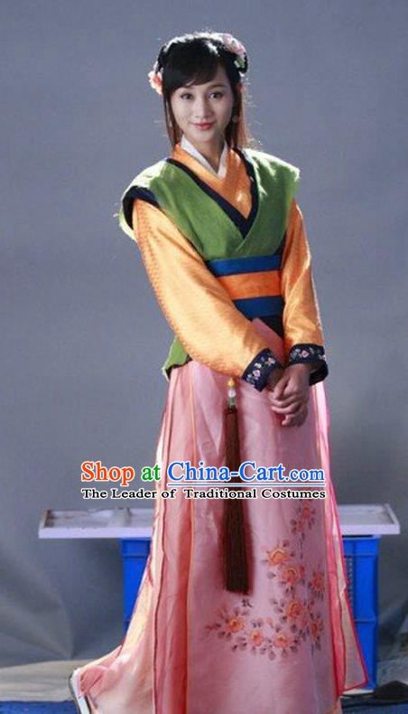 Ancient Chinese Ming Dynasty Swordswoman Replica Costume for Women