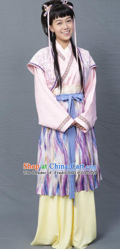 Ancient Chinese Song Dynasty Poet Su Tungpo Sister Hanfu Dress Replica Costume for Women