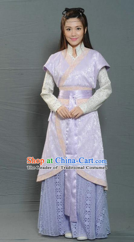 Chinese Ancient Ming Dynasty Female Swordsman Replica Costume for Women