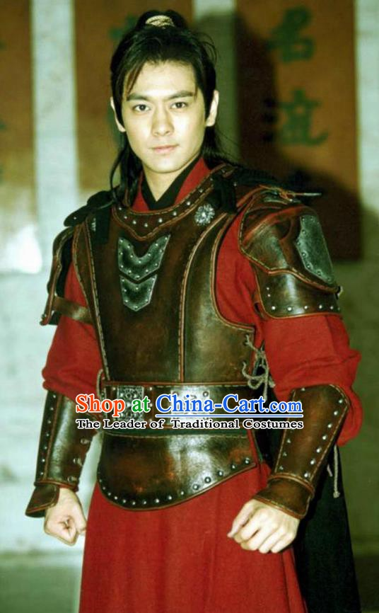 Ancient Chinese Song Dynasty Warriors Swordsman Liu Sanbian Replica Costume for Men