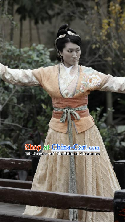Ancient Chinese Song Dynasty Yang Family Female General Replica Costume for Women