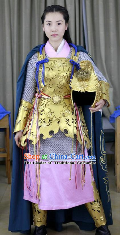 Ancient Chinese Song Dynasty Yang Female Generals Replica Costume for Women
