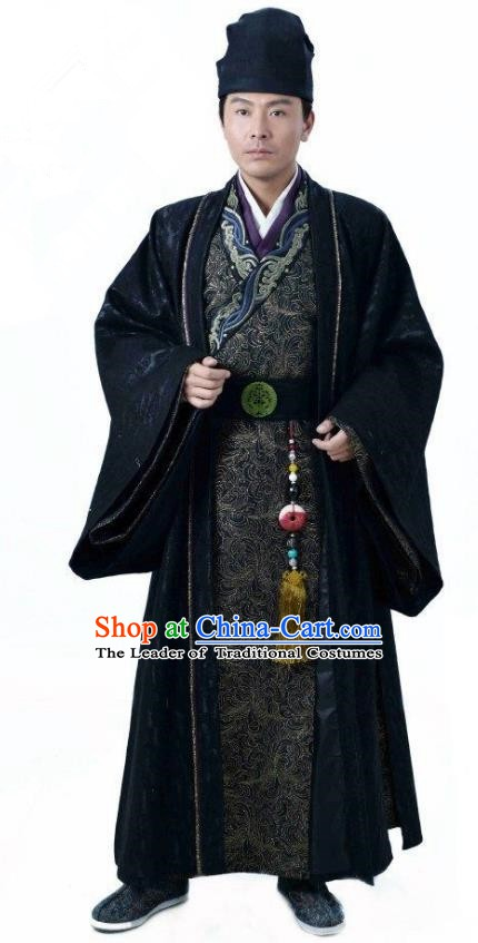 Ancient Chinese Song Dynasty Jin Minority Prince Wanyan Zeli Replica Costume for Men