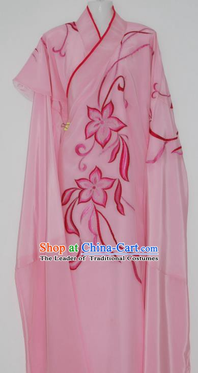 China Traditional Beijing Opera Costume Gifted Scholar Pink Robe Chinese Peking Opera Clothing