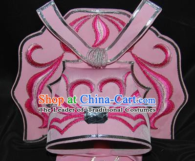 China Traditional Beijing Opera Gifted Scholar Pink Hats Chinese Peking Opera Niche Headwear