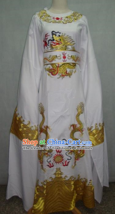 China Traditional Beijing Opera Niche White Dragon Robe Chinese Peking Opera Number One Scholar Scholar Costume