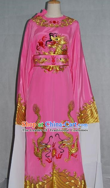 China Traditional Beijing Opera Niche Pink Dragon Robe Chinese Peking Opera Number One Scholar Scholar Costume