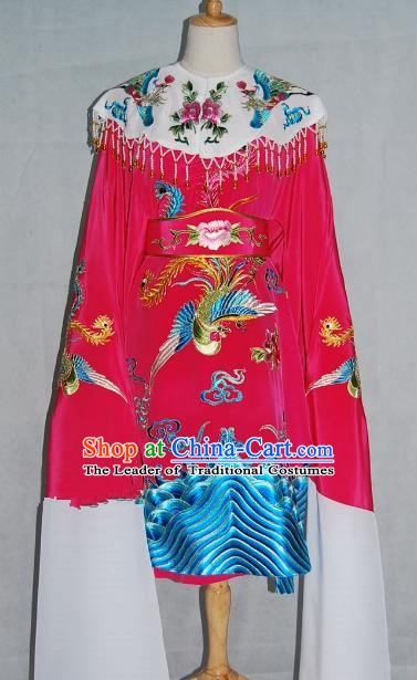 China Traditional Beijing Opera Actress Rosy Costume Chinese Peking Opera Embroidered Dress