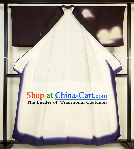 Japanese Ancient Kimono Costume Male Yukata Robe Traditional Wafuku Hakama Haori for Men